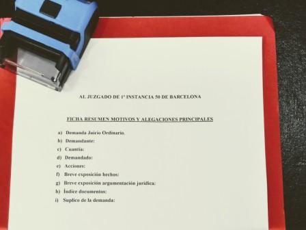 Modelo normalizado Juzgado nº50 de Barcelona